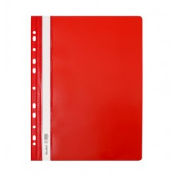 Skoroszyt twardy A4 z perforacją Biurfol czerwony