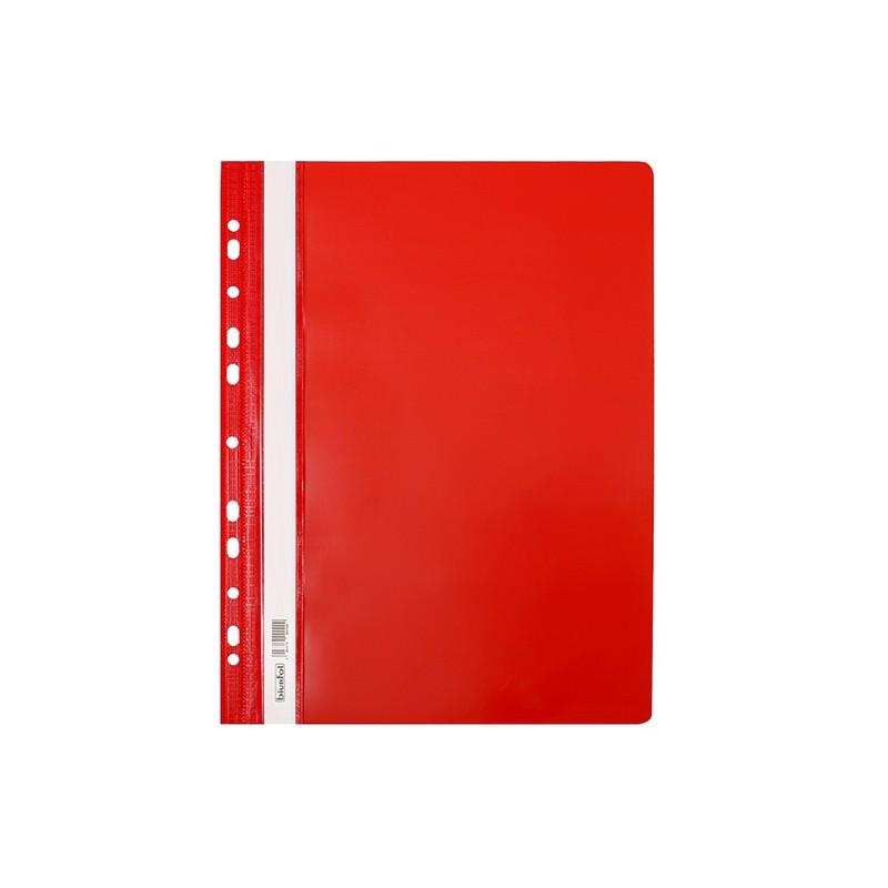 Skoroszyt twardy A4 z perforacjト� Biurfol czerwony