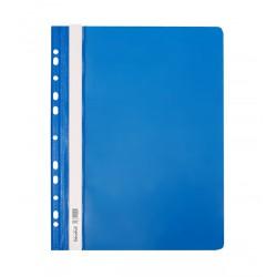 Skoroszyt twardy A4 z perforacją Biurfol niebieski