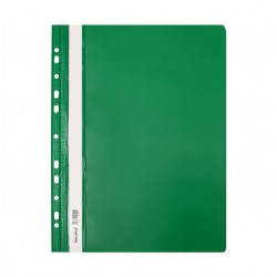 Skoroszyt twardy A4 z perforacją Biurfol zielony