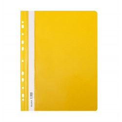 Skoroszyt twardy A4 z perforacją Biurfol żółty