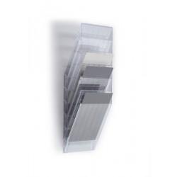 Pojemnik na dokumenty na ścianę Flexiboxx 6 A4 przezroczysty