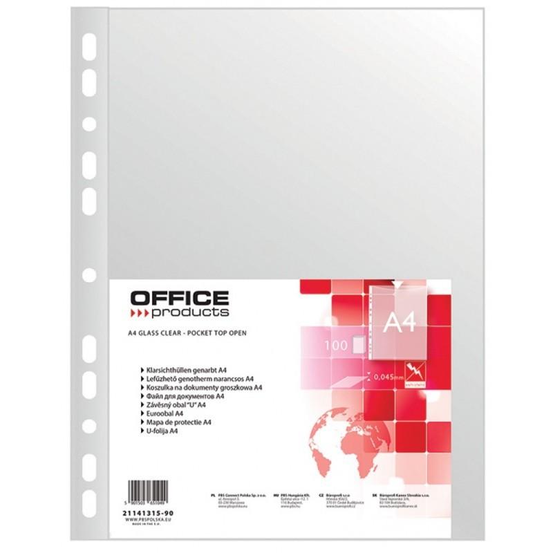 Koszulki groszkowe A4 Office Products, 40 mic, 100 szt