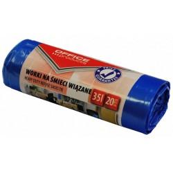 Worki na śmieci LDHD Premium Office Products 35 L, 20 szt niebieskie wiązane