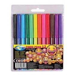 Flamastry Centrum 12 kolorów emojidex