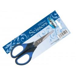 Nożyczki Centrum 14cm gumowany niebieski