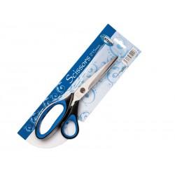 Nożyczki Centrum 21,5cm gumowany niebieski uchwyt