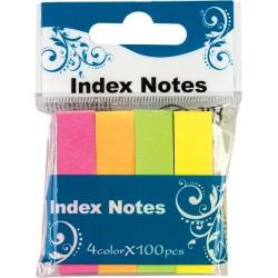 ZakナBdki indeksujト�ce Centrum papierowe 12x50mm neonowe 4 kolory po 100 karteczek