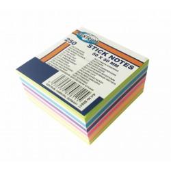 Notes samoprzylepny Centrum 50x50mm 7 neonowych kolorテウw