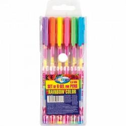 Długopis żelowy Centrum rainbow 6 szt.