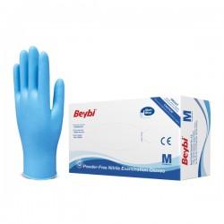 Rękawice ochronne niebieskie m 100 szt. nitrylowe