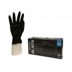 Rękawice ochronne Pro Clean czarne M 100 szt. nitrylowe