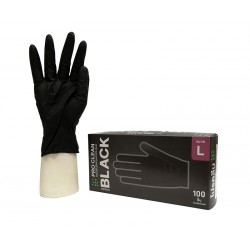 Rękawice ochronne Pro Clean czarne L 100 szt. nitrylowe