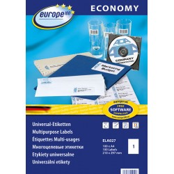 Etykiety uniwersalne Economy Europe100 by Avery Zweckform A4, 100 ark./op., 210 x 297 mm, białe