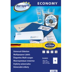 Etykiety uniwersalne Economy Europe100 by Avery Zweckform A4, 100 ark./op., 105 x 57 mm, białe