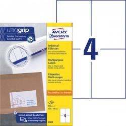 TrwaナF etykiety uniwersalne Avery Zweckform A4, 100 ark./op., 105 x 148 mm, biaナF