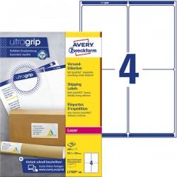 Białe etykiety wysyłkowe Avery Zweckform A4, 100 ark./op., 99,1 x 139 mm