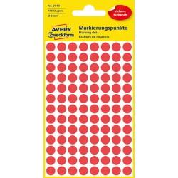 Kolorowe kółka do zaznaczania Avery Zweckform 416 etyk./op., Ø8 mm, czerwone