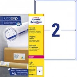 Białe etykiety wysyłkowe Avery Zweckform A4, 100 ark./op., 199,6 x 143,5 mm