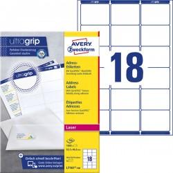 Etykiety adresowe białe Avery Zweckform A4, 100 ark./op., 63,5 x 46,6 mm