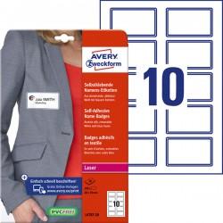 Samoprzylepne identyfikatory do zadruku Avery Zweckform A4, 20 ark./op., 80 x 50 mm, niebieska ramka, sztuczny jedwab