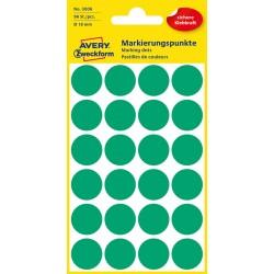 Kolorowe kółka do zaznaczania Avery Zweckform 96 etyk./op., Ø18 mm, zielone