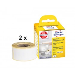 Etykiety adresowe Avery Zweckform w rolce do drukarek termicznych 260 etyk./2rolki 28 x 89 mm, trwałe, białe