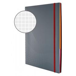 Kołonotatnik Notizio A4 oprawa - tworzywo sztuczne szary kratka 90 kartek Avery Zweckform